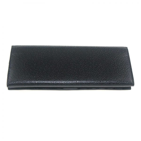 Authentic, New, and Unused Gucci Calfskin Continental Flap Wallet Black 322104 back view