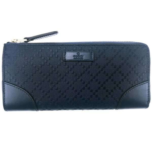 Authentic, New, and Unused Women's Gucci Hilary Lux Diamante Leather Zip Around Wallet 354488 front view