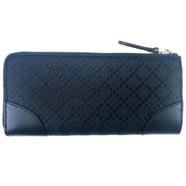 Authentic, New, and Unused Women's Gucci Hilary Lux Diamante Leather Zip Around Wallet 354488 back view