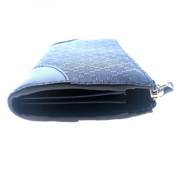 Authentic, New, and Unused Women's Gucci Hilary Lux Diamante Leather Zip Around Wallet 354488 left side view