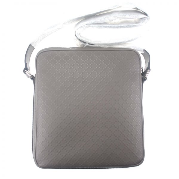 Authentic, New, and Unused Gucci Medium Diamanta Leather Shoulder Bag Grey 201448 back view