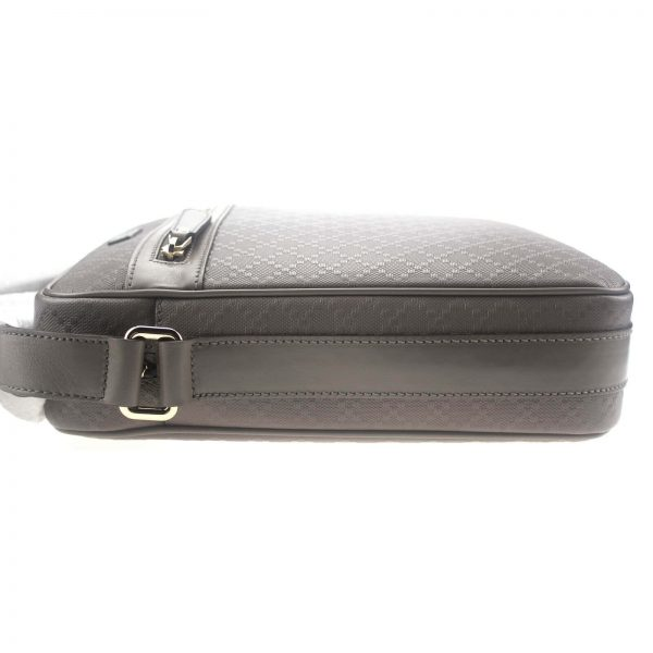 Authentic, New, and Unused Gucci Medium Diamanta Leather Shoulder Bag Grey 201448 side view