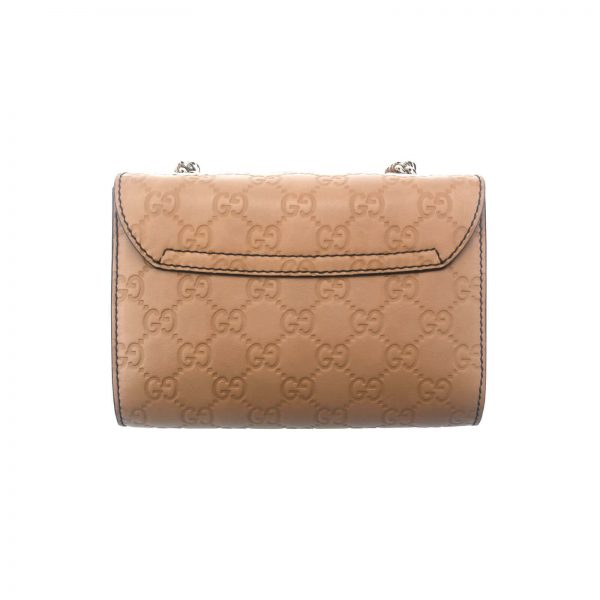 Authentic, New, and Unused Gucci Guccissima Mini Emily Shoulder Bag Beige 369622 back view