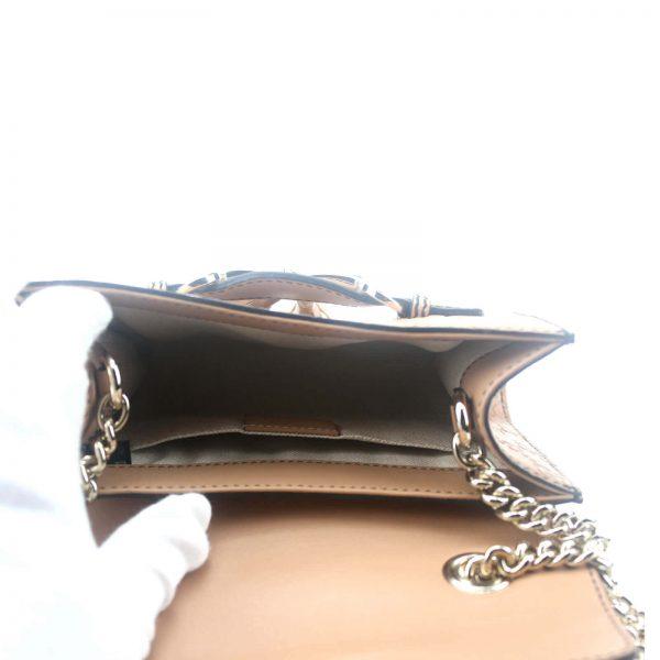 Authentic, New, and Unused Gucci Guccissima Mini Emily Shoulder Bag Beige 369622 interior view