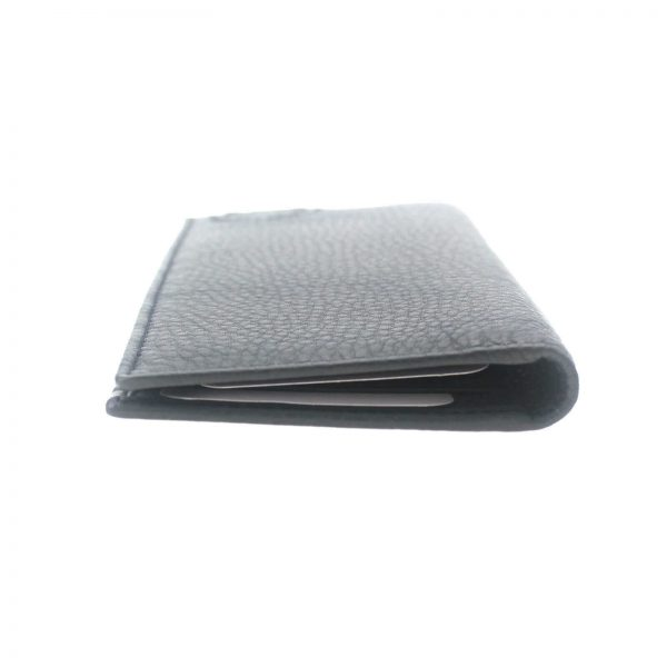 Authentic, New, and Unused Gucci Embossed interlocking G Grey Leather Long Wallet 322116 right side view