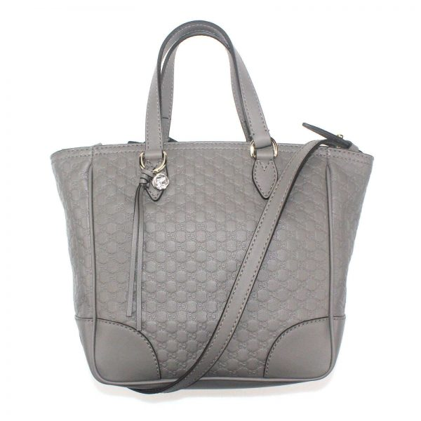 Authentic, New, and Unused Gucci Gray Microguccissima Small Crossbody Bag 449241 front view