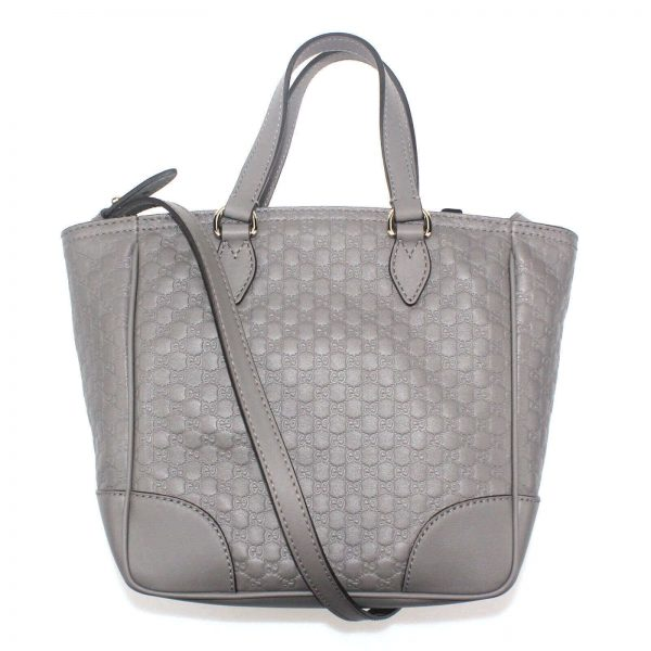 Authentic, New, and Unused Gucci Gray Microguccissima Small Crossbody Bag 449241 back view