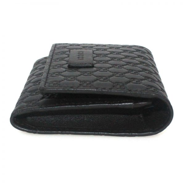 Authentic, New, and Unused Gucci Microguccissima Card Case Wallet Dark Brown 544030 right side view